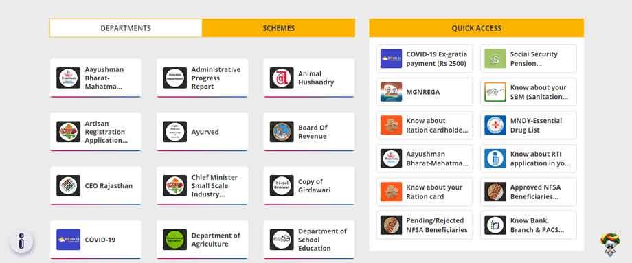 jan suchna portal schemes