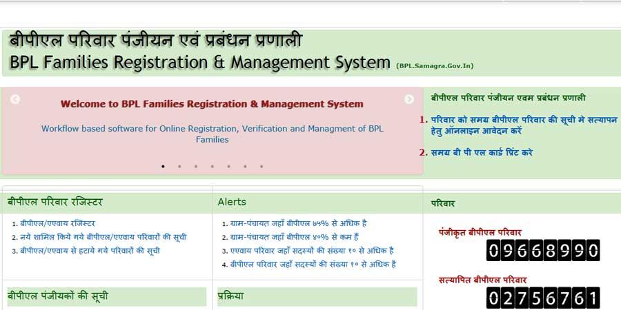 samagra ID-BPL-Card