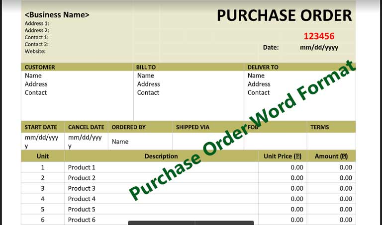 Purchase-Order-Word-Format